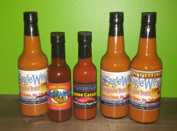 Eaglewingz Brand Hot Sauces