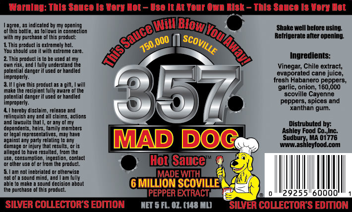 Mad Dog  Gold Edition Hot Sauce